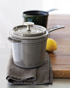 Absolutely love the shape of this 3 qt. Staub Saucepan. Totally getting this!