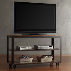Granger Industrial Rustic Storage Metal frame TV Stand - Overstock™ Shopping - Great Deals on Coffee, Sofa & End Tables