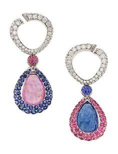 Mauboussin - Sapphire, Diamond, White Gold Earrings, Mauboussin - Price Estimate: $30000 - $40000