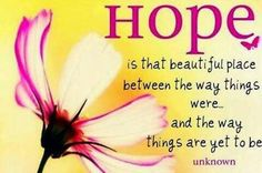Being hopeful is one of the most beautiful feelings in the world. - Anne Hall
