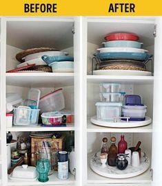 42 New Ideas for corner closet organization diy lazy susan Kitchen Cabinet Organization, Closet Organization, Kitchen Storage, Kitchen Cabinets, Organization Ideas, Corner Cabinets, Cupboard Storage, Cupboards, Organiser Tupperware