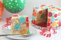 This impressive polka dot cake would make the perfect birthday or celebration cake. It's much easier to make than you may think with colourful polka dots hidden carefully in the sponge, the kids are going to love it! Learn how to make your own with our simple step-by-step recipe...
