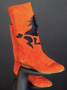 ANDREA PFISTER-1980s Suede & Fur Stallion Boots, Size-5