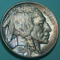 1920 S Buffalo Nickel Lustrous Gem BU and Album Toned Free Shipping