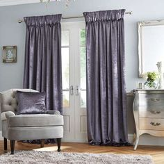 Equipped with a pencil pleat header, these fully lined curtains help restrict unwanted light and are finished in a charcoal grey shade. Available in multiple wi...
