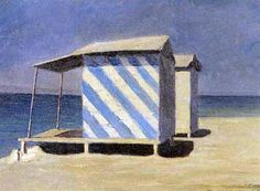 Artist: Walter Lazzaro (Italian, 1914–1989) Title: Cabine sul mare , 1956 Medium: oil on masonite Size: 30 x 40 cm. (11.8 x 15.7 in.)