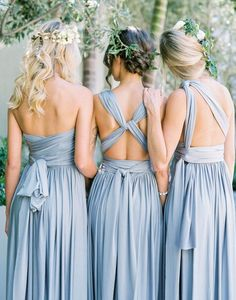 Convertible bridesmaid dress, long bridesmaid dress, jersey bridesmaid dress, popular bridesmaid dress, cheap bridesmaid dress Bridesmaid Dress Bridesmaid Dress For Cheap Bridesmaid Dresses 2019 Bodas Boho Chic, Wedding Bridesmaid Dresses, Multiway Bridesmaid Dress, Convertible Bridesmaid Dresses, Grey Blue Bridesmaid Dresses, Blue Dresses, Bridesmaid Ideas, Different Bridesmaid Dresses, Infinity Dress Bridesmaid