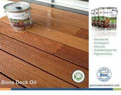 Con una fórmula mejorada para una mayor durabilidad, y dos nuevos colores a escoger, Bona Deck Oil hace que sus pisos de madera se mantengan como el primer día, durante todo el año. El nuevo Bona Deck Oil también carece de los aditivos nocivos utilizados en muchos aceites alternativos. http://www.quinovaacabados.com/productos-bona/bona-deck-oil/