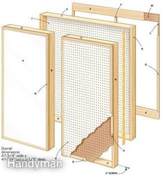 Figure A: Follow this diagram to build a pegboard wall cabinet