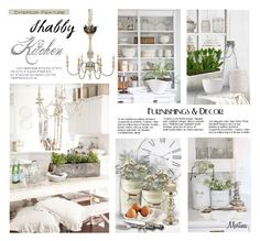 """""""Shabby Kitchen"""" by thewondersoffashion ❤ liked on Polyvore featuring interior, interiors, interior design, home, home decor, interior decorating, NLXL, Tabletops Unlimited, Garden Trading and Juliska"""