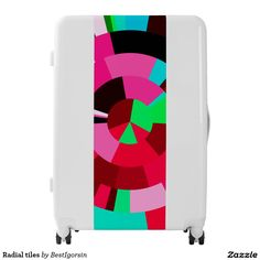 Shop Radial tiles luggage created by BestIgorsin. Painting Digital, Third Base, Luggage Suitcase, Reset Button, Tiles, Make It Yourself, Design, Room Tiles, Tile