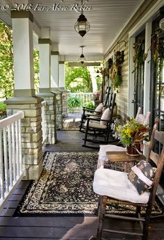 Carolina autumn porch...remove current porch fixtures - replace with stone and wood