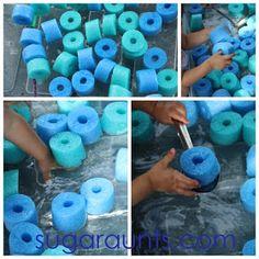 Water Bin Series: Pool Noodle Sensory Play | The OT Toolbox