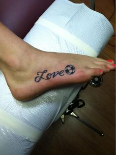 love soccer tattoo