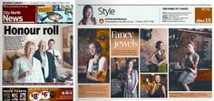 LB in the Brisbane Northside Newspaper with Ruby Olive - perfect combo!!  September 2011