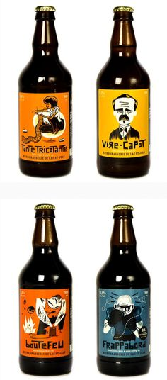Microbrasserie du Lac St-Jean by doiion - Interesting illustrative style, with a combination of blocky shapes and curved linework. I think the Saul Bass inspired art and lettering could appeal to an older creative audience.