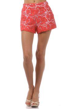 Crochet Lace Overlay Shorts! Xx
