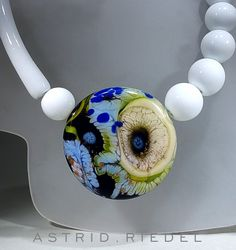 Astrid Riedel Glass Artist: Abstract Blown bead
