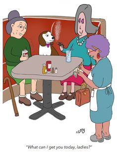 Okay, so we all know smoking in public is not okay, nor bringing your own brew to most restaurants, but who can deny Harriet and Clarisse their once a year birthday outing, just the way they like it? After all, I think they've earned a certain right to have it their way! Plus, they just happen to know of a great little diner off the beaten track, with a slightly 'hidden' booth where they're forgiven their less than great habits and where Clarisse's dog, Freida,.. [READ MORE] Cute Happy Birthday, Happy Birthday Greeting Card, Funny Greeting Cards, Happy Birthday Quotes, Birthday Wishes Messages, Birthday Wishes Funny, Birthday Card Template, Funny Happy, Smoking