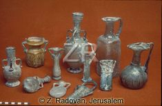 563. ROMAN GLASS VESSELS USED FOR FINE OILS, PERFUMES AND COSMETICS