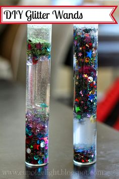 Cup of Delight: DIY Glitter Wands (Cheap Kid fun!) {Delightfully Creative}
