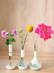 beaker vases #flowers #decorations