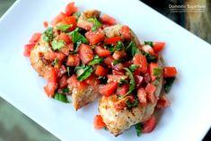 Skinny Bruschetta Chicken - the perfect fresh healthy dinner!