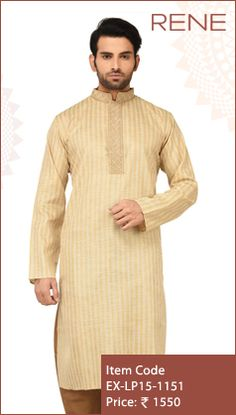 #Exclusive #EthnicWear #Design #ethnic #Traditional #Trendy #Kurta #Men #Gold #Ootd #Outfit #Fashion #Style #ReneIndia #Brand available on #Flipkart #Snapdeal #paytm