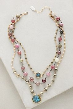 Layered Gemstone Necklace #anthropologie #necklaceideas
