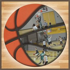 12x12 Digital Scrapbook Template Basketball Scrapbook