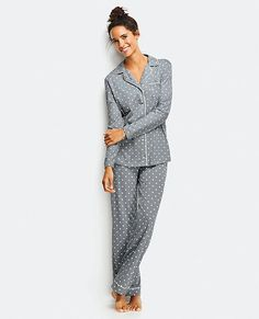 Love, Hanna Pima Cotton PJ Set | Women Sleepwear And Lounge