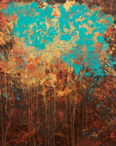 copper painting...I love these colors! Would look great as like a countertop though rather than a painting...