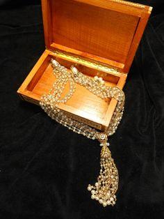 Multi strand glass bead vintage NECKLACE by VintageTreasuresRus, $14.99