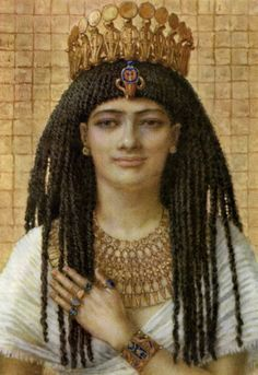 Artistic illustration of 18th dynasty  queen Mutnodjmet, consort of king Horemheb.