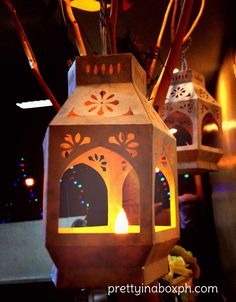 DIY paper Moroccan lanterns << These are so cute! They would look really cool with tissue paper in the cut outs (and with flameless candles, of course)