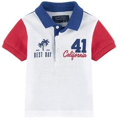 T-shirts Mayoral : Nouvelles Collections pour enfants Polo Shirt Outfits, Polo T Shirts, Golf Shirts, Kids Shirts, T Shirts For Women, Boys Summer Outfits, Boy Outfits, Baby Polo, Boys Suits