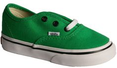 Kids / Toddlers Vans Authentic Green/Black.  £26.99