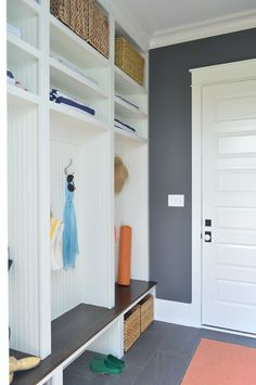 Young House Love | The End Of The Show | Built Ins for Mudroom or Garage  http://www.younghouselove.com