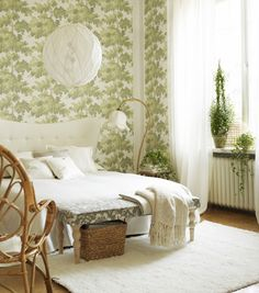 Bring the garden indoors with a green & white theme