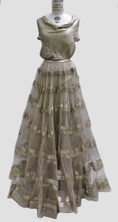 Evening Dress, Madeleine Vionnet (French, Chilleurs-aux-Bois 1876–1975 Paris): fall/winter 1938-1939, French, metal thread.