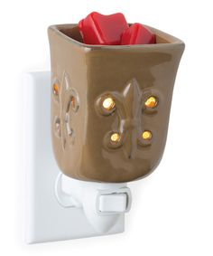 Loving this Candle Warmers Toffee Fleur-de-Lis Plug-In Wax Warmer on #zulily! #zulilyfinds