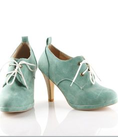 Plus Size Tied High Heel Pumps Blue