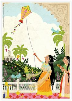 Ragamala Series No.5: 'The Kite Flyer', by Radha Ramachandran | ratlion.blogspot.in
