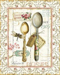 Rose Garden Utensils II Prints by Lisa Audit at AllPosters.com