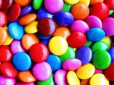 candy color! Canadian Smarties. Yummy in my tummy.