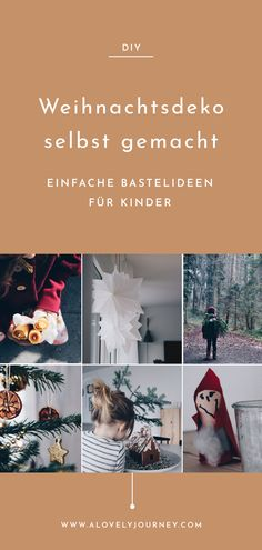 DIY // Relaxed crafts with children during the Advent season Tinker with Kids: Simple DIY Ideas for Fall, Winter & Christmas
