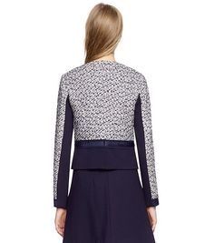 LUCILLE JACKET - BIRCH/ TORY NAVY A - TORY BURCH