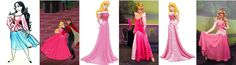Aurora dress evolution