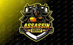 Here we have a strong, eye-catching, awesome and powerful assassin esports logo for sale that will fit well in any eSports team, assassin mascot Assassin Logo, Logan, Team Logo Design, Esports Logo, Watercolor Logo, Retro Logos, Game Logo, Mobile Legends, Typography Logo