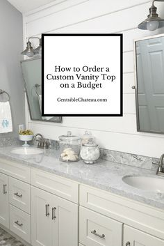 You can afford a custom vanity top for your bathroom remodel project. Here are tips to ordering your bathroom counter, and the options you should choose to make it look high-end!